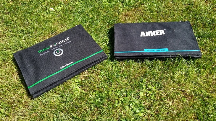 Anker-Solar-Charger on the Grass