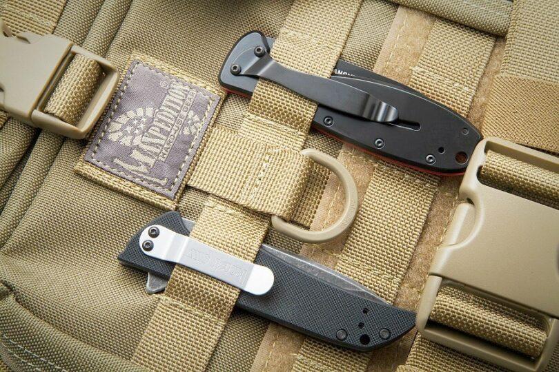 Backpacking knife sheath