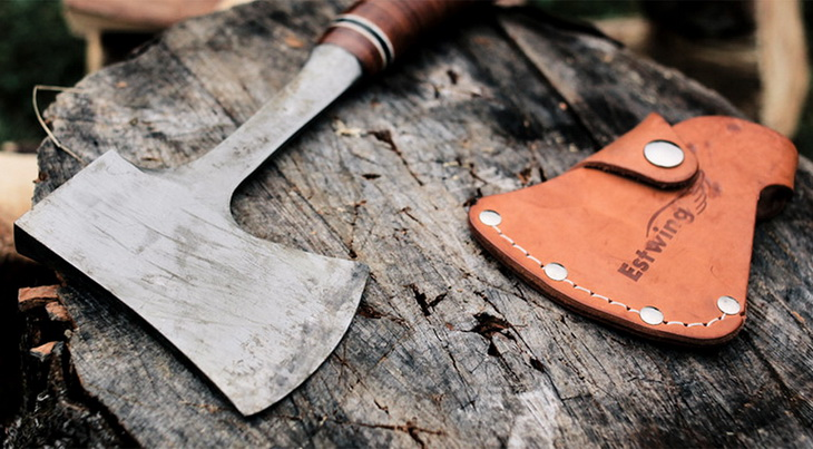 Camp axe with cover