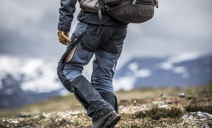 A man wearing a pair of convertibile hiking pants