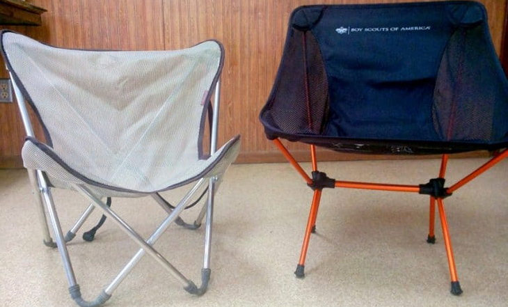 Front image of two camping chairs