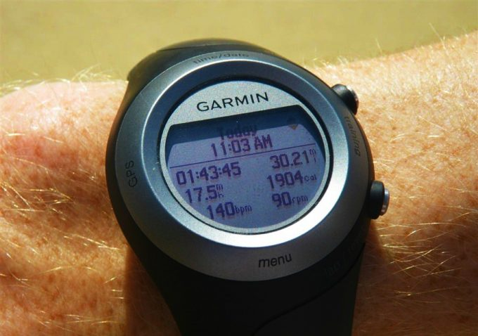garmin watch showing heart rate