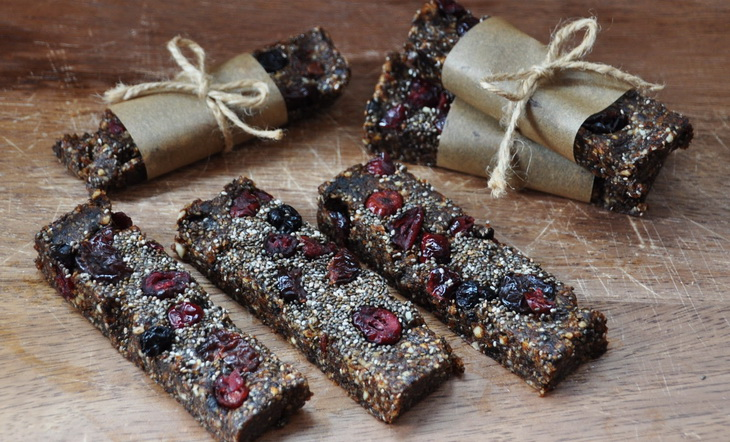 Cranberry Chia Energy Bars