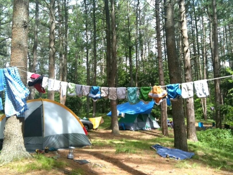Drying clothes outdoor