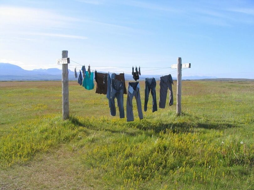 Fast drying your clothes