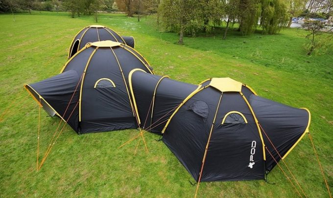 Image of a solar powered tent