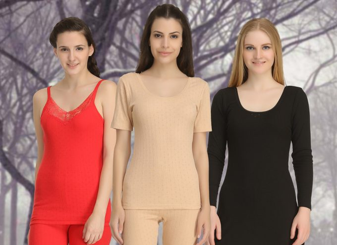 women in thermal underwear