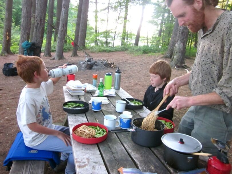 Making camping meals