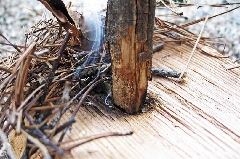 Materials Needed in Making Wildfire Using Sticks