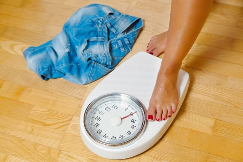 Measure weight before and after exercising