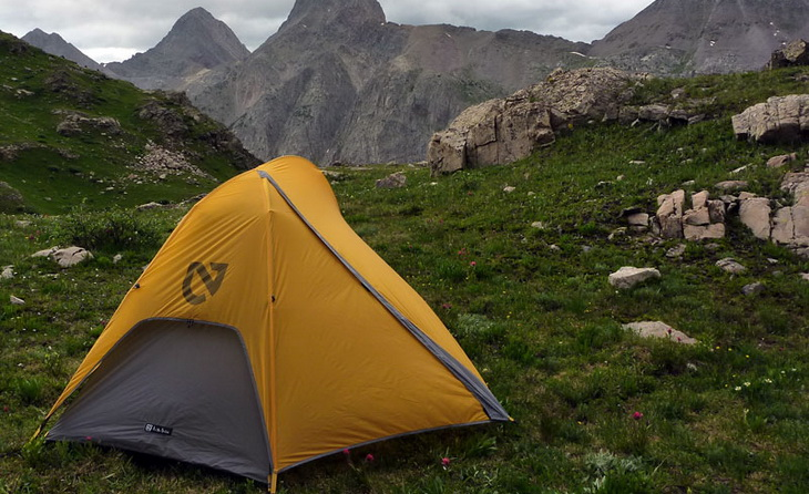 Nemo Obi Elite 1 Person Tent in the mountains