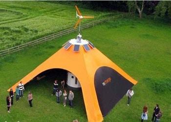 Orange Recharge Pod Solar Tent
