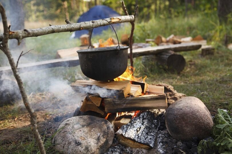 Outdoor cooking meals