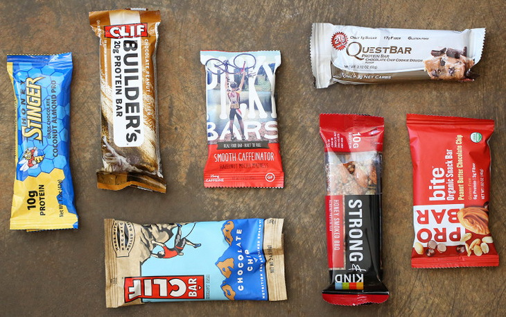 Different types of energy bars
