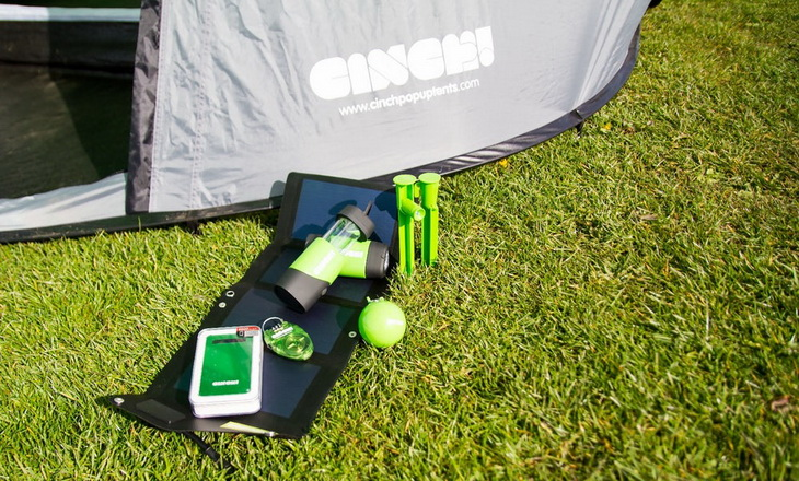 The Cinch comes with LED lighting and a solar power option