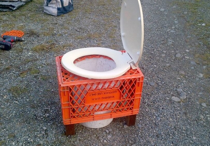 Toilet for camping variation