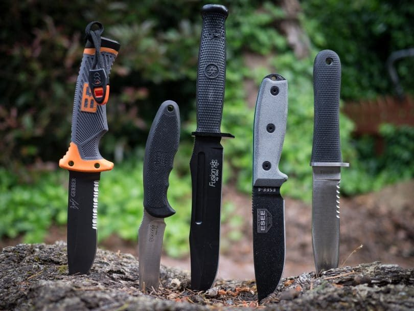 different type of backpacking knifes