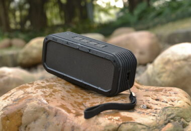Camping gadget on a rock
