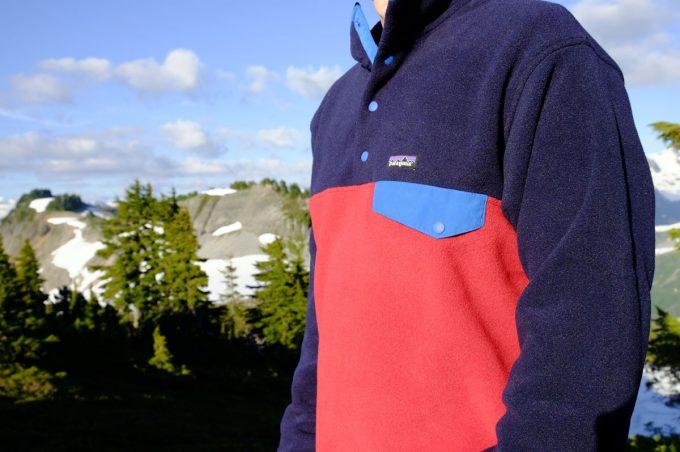 man wearing fleece jacket