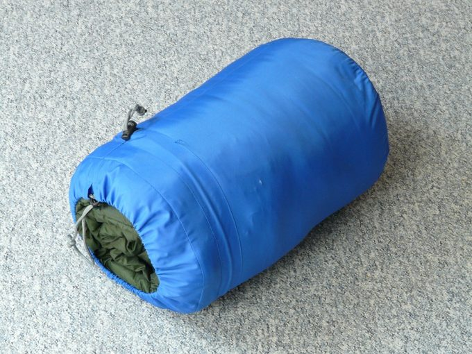 small packed ultralight sleeping bag