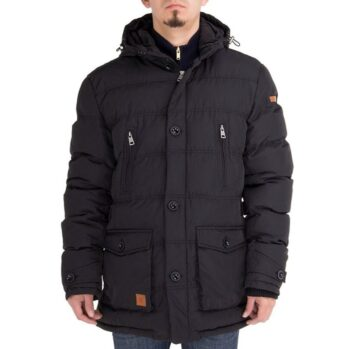 Luciano Natazzi Men's Down Jacket Thermal Padded Classic Oxford Parka Coat