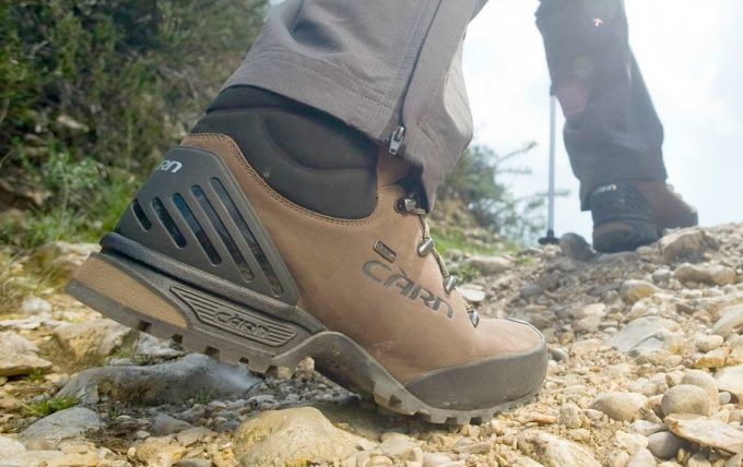 A man walking in a pair of hiking botts