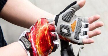 putting on Fingerless Gloves
