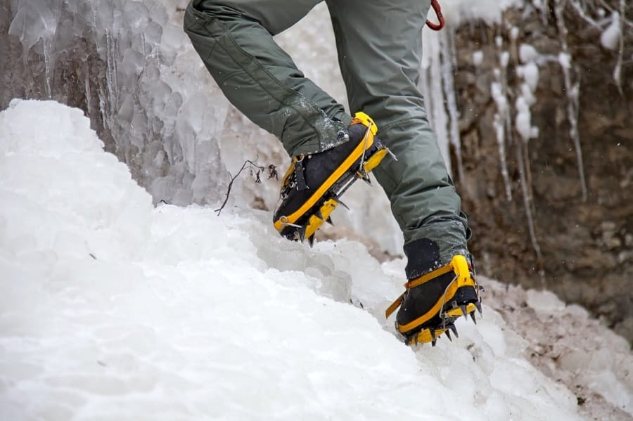 Man with Hiking Crampons