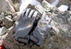 Image showing a pair of Outdoor Research Revolution Gloves on rocks