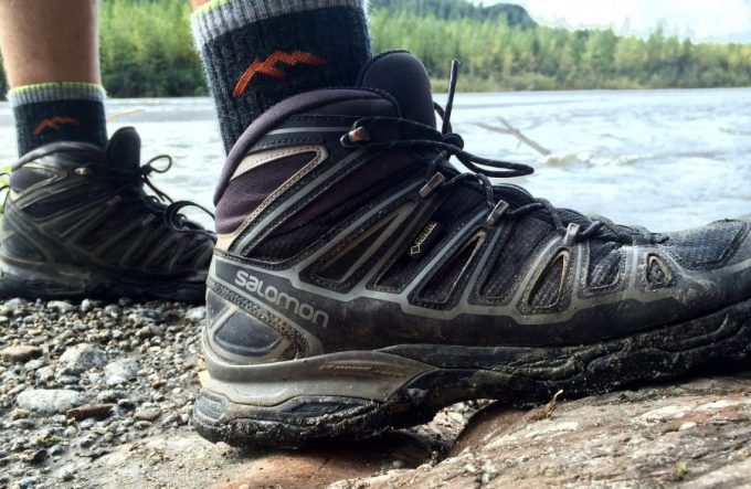 A man hiking in Salomon X Ultra Ii Gtx