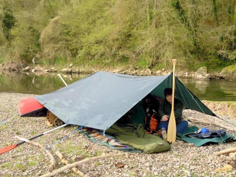 how to make a camping tarp shelter