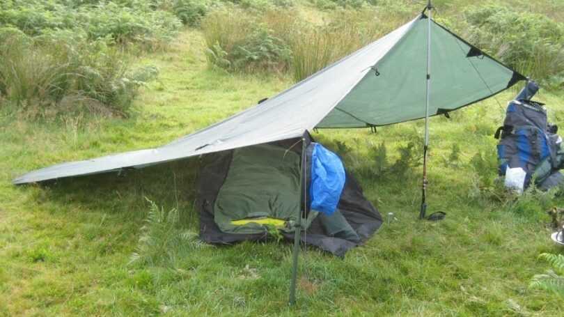 With such a simple piece of equipment a well planned tarp tent setup using any number of tarp shelter configurations will give a wide array of c& comforts ... : tent tarp setup - memphite.com