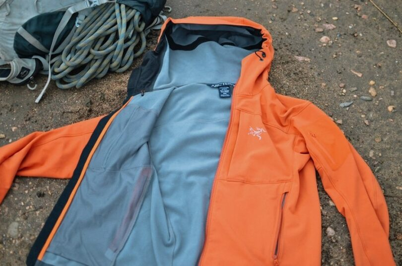 softshell jacket on the ground