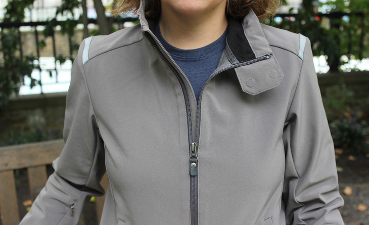 Woman wearing Vulpine Women's Softshell Jacket