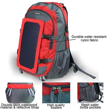 Wosports DTV4I Solar Charger Backpack