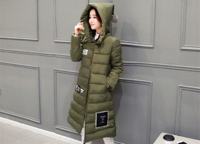 asian woman wearing long winter jacket