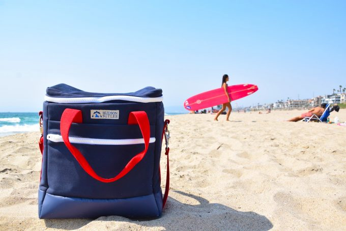 cooler bag on the beach