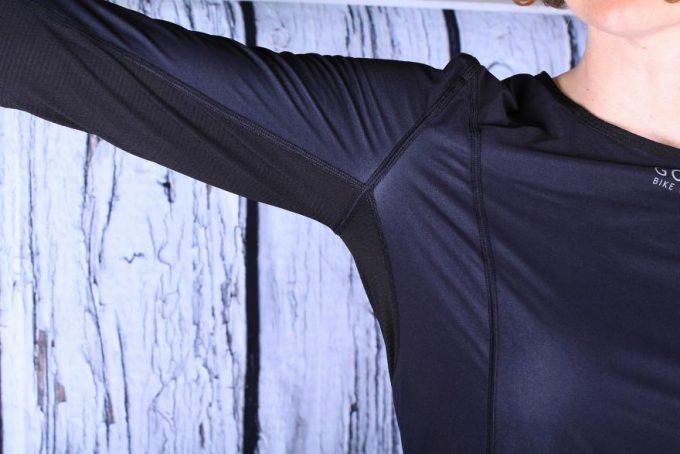 a woman wearing a gore-base-layer