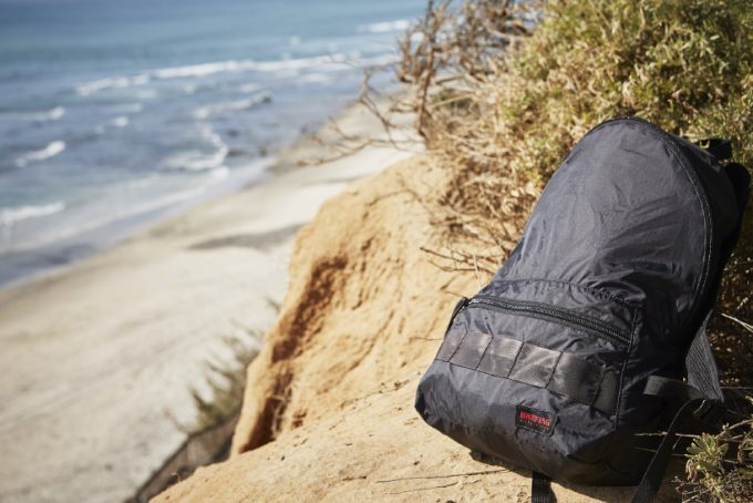 daypack on the beach