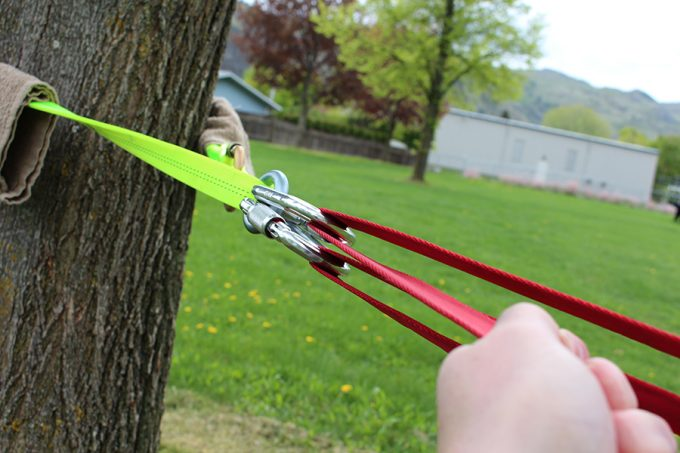 setting up a slackline