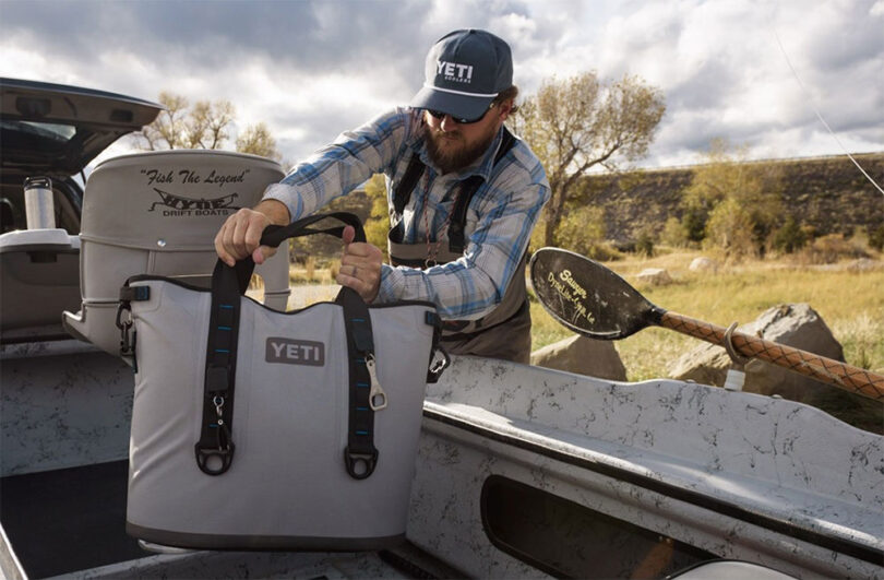 soft sided cooler bag on truck