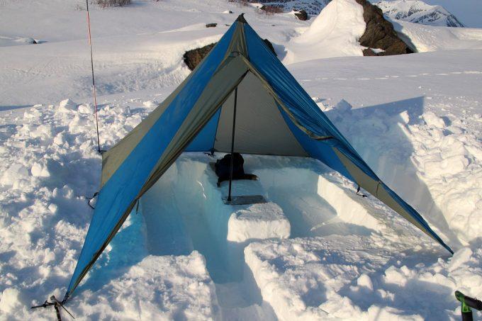 tarp in snow