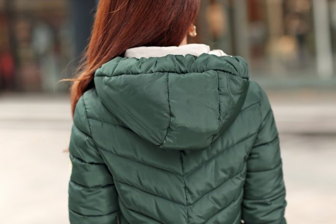 woman winter jacket with hood
