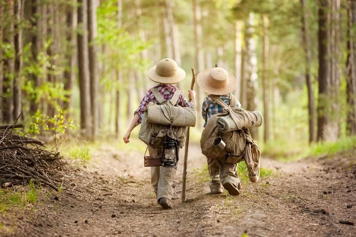 Bringing kids to hike