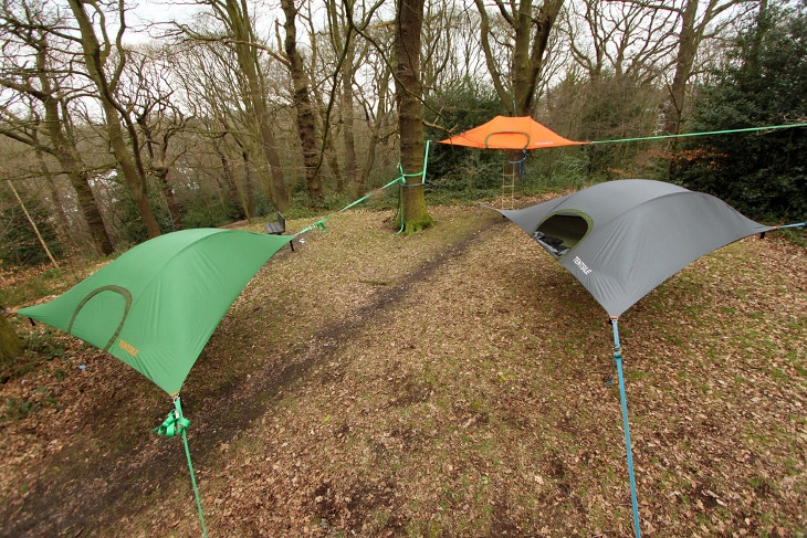 Three tent hammocks