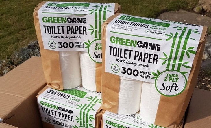 box of biodegradable toilet papaer