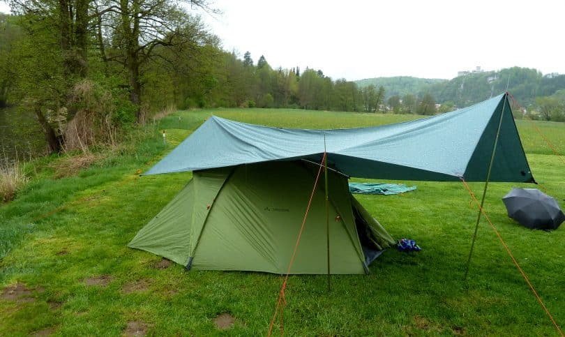 Tent and tarp near River Naab & Tent Footprint Vs Tarp: What is Better for Your Needs?