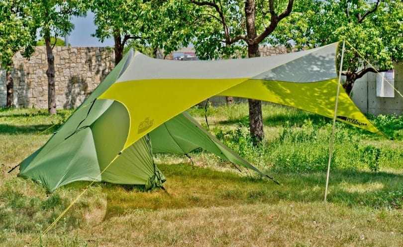 tarp tent in the woods & Tent Footprint Vs Tarp: What is Better for Your Needs?