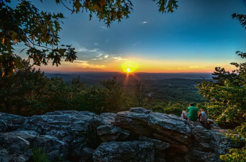 A picture at the Bears Den, which is on the Appalachian Trail close to Bluemont VA