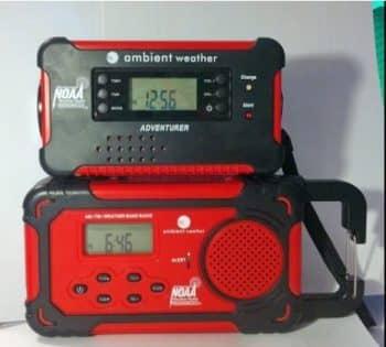 Ambient Weather WR-111B Emergency Solar Hand Crank